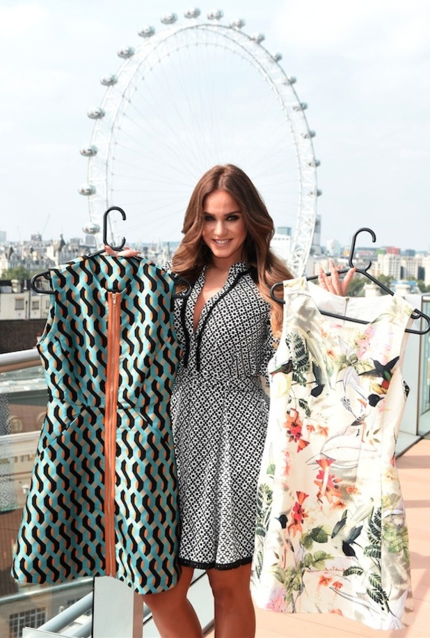 Geordie Shore's Vicky Pattison shows off her A/W16 collection for Honeyz, 16th August 2016