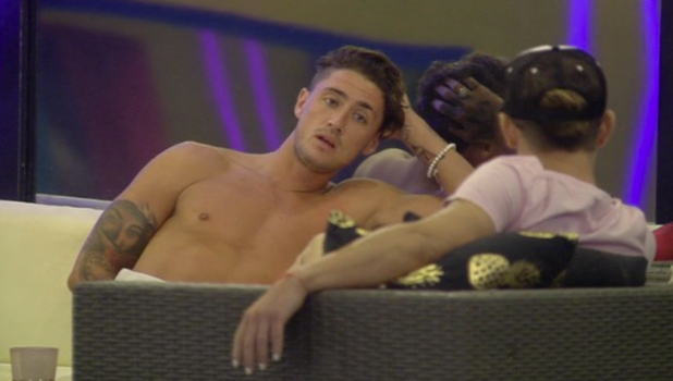 CBB: Bear in the garden as Marnie and Lewis in the Diary Room 15 August 2016