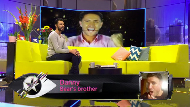 CBB: Bear's brother Danny talks to Rylan 15 August 2016