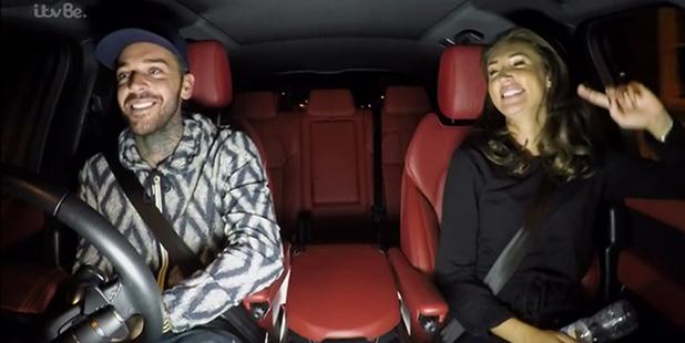 TOWIE's Megan and Pete recreate carpool karaoke 2016