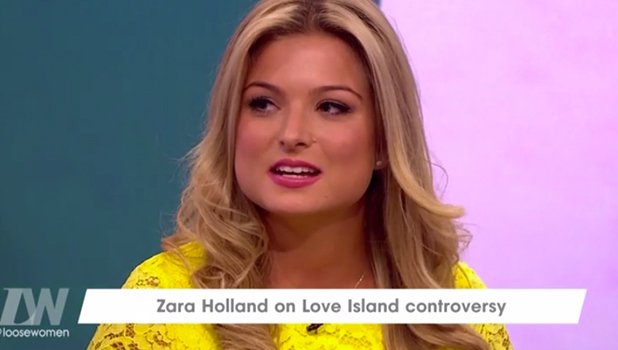 Zara Holland appears on Loose Women, 18 August 2016