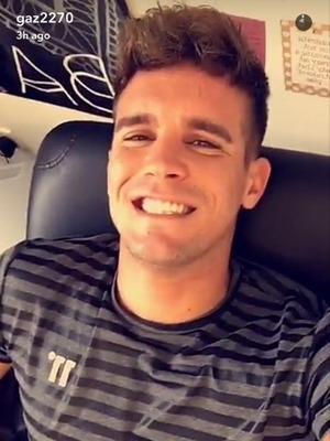 Gaz Beadle gets flower tattoo on back of his hand 22 August