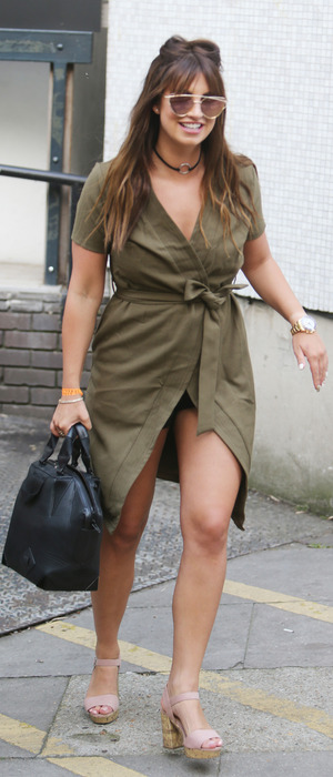 Former The Only Way Is Essex star Ferne McCann spotted outside ITV Studios in London, 24 August 2016