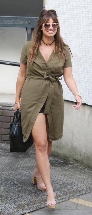 Former TOWIE star Ferne McCann spotted outside ITV Studios in London, 24 August 2016