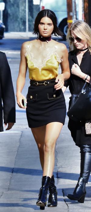 KUTWK star Kendall Jenner seen arriving at the Jimmy Kimmel Live studios in Hollywood, America, 25 August 2016