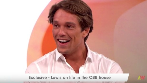 Lewis Bloor gets embarrassed on Loose Women after they reveal they've seen him naked, ITV 22 August