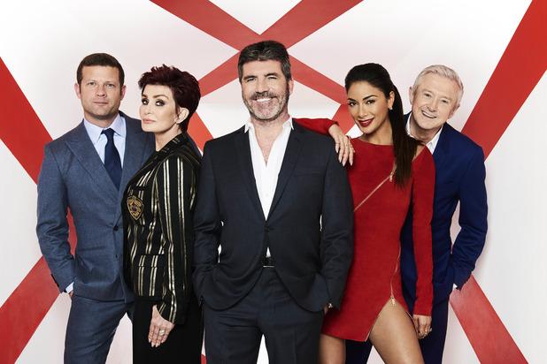 The X Factor 2016, Dermot O'Leary, Sharon Osbourne, Simon Cowell, Nicole Scherzinger, Louis Walsh, Sat 27 Aug