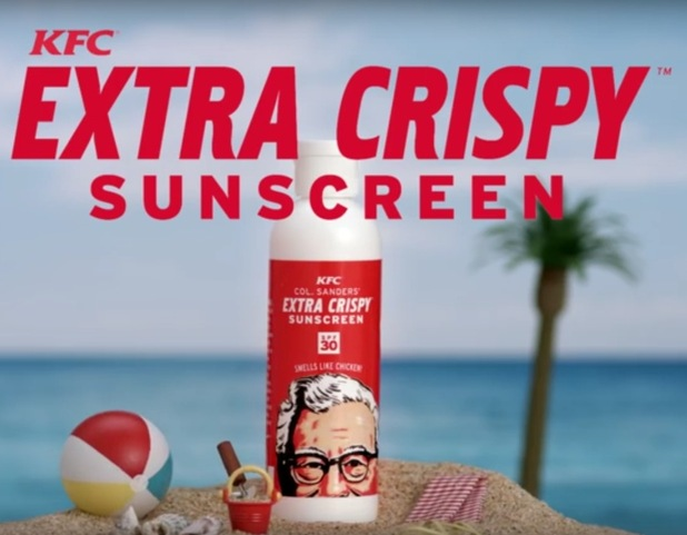 KFC have made extra crispy suncream that smells of fried chicken