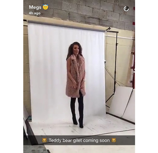 TOWIE star Megan McKenna shows off her new Miss Pap collection, AW16, Snapchat, 26 August 2016