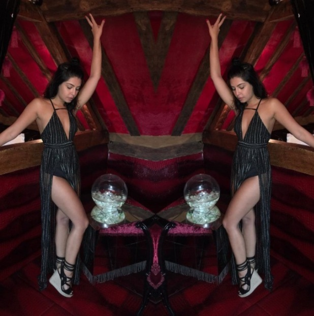 Love Island star Cara de la Hoyde in Missy Empire, 21 August 2016