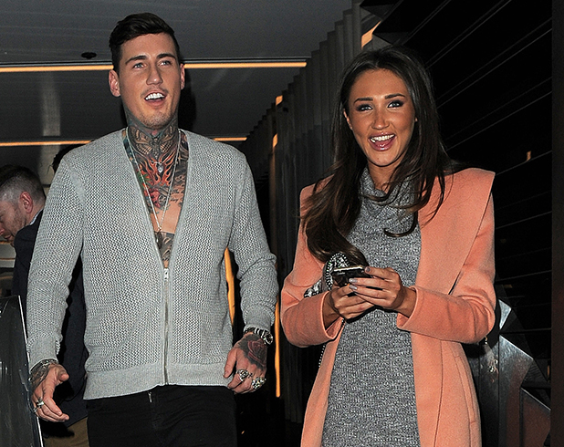 CBB stars Megan McKenna and Jeremy McConnell dinner together at Circus bar in London's Soho, 26 February 2016.