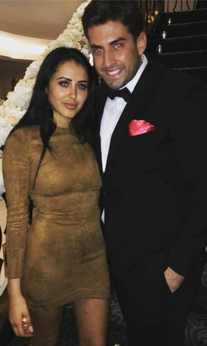 Marnie Simpson and James 'Arg' Argent at wedding, 4/9/16