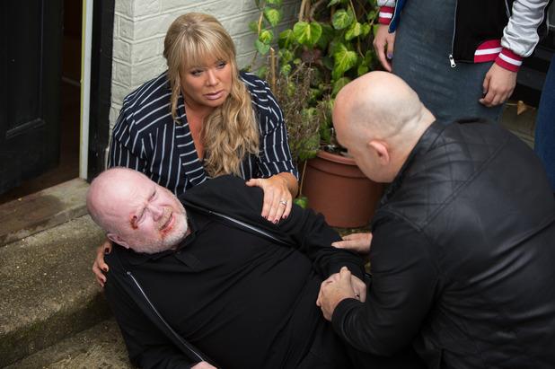 EastEnders, Phil collapses, Sharon, Grant, Mon 5 Sep