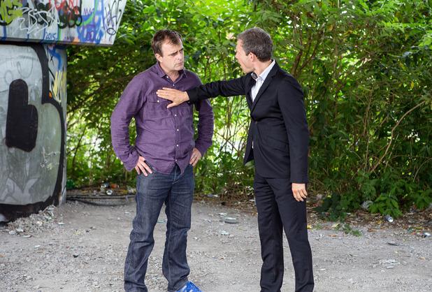 Corrie, Nick threatens Steve, Mon 5 Sep