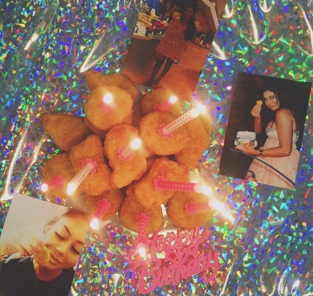 Chloe Ferry gets chicken nugget cake for her birthday 31 August