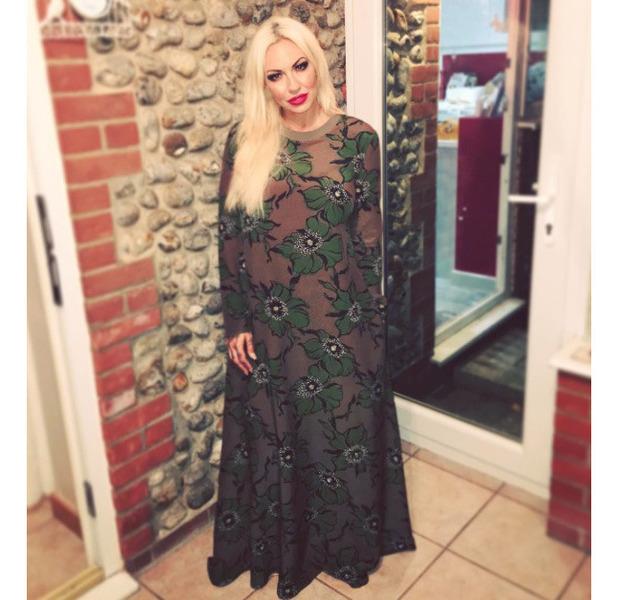 Jodie Marsh's dress divides opinion on Instagram, 1 September 2016