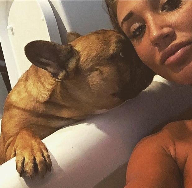Megan McKenna and Pete Wicks' late dog Ernest - 30 Aug 2016