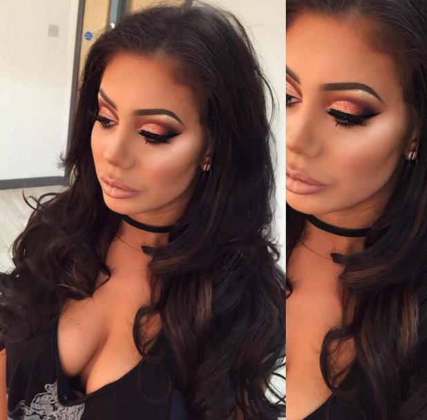 Chloe Ferry rocks gorgeous sparkly make-up for her 21st birthday party, make-up by Lisa Dunbar, 31 August 2016