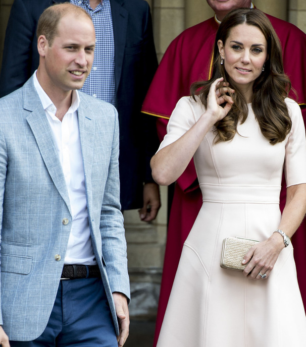 The Duke and Duchess of Cambridge on a visit to Truro in Cornwall, 1st September 2016