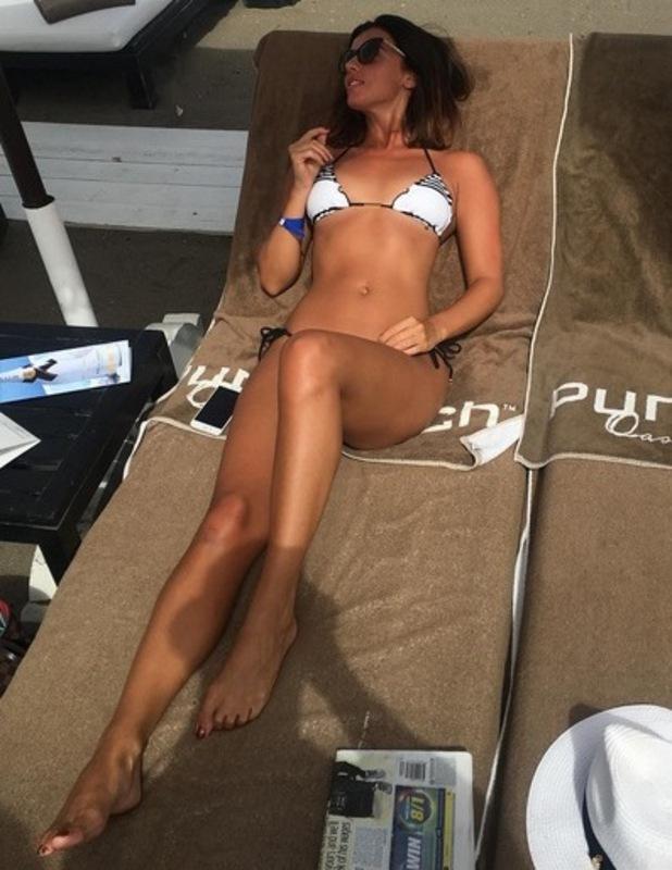 Lucy Mecklenburgh at Puro Beach Club in Marbella
