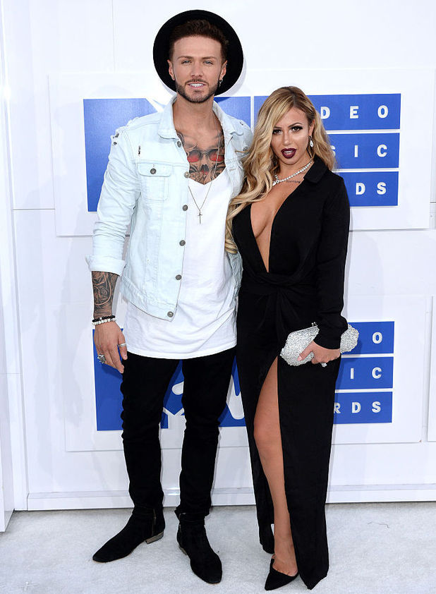 Kyle Christie and Holly Hagan attend the 2016 MTV Video Music Awards at Madison Square Garden, New York 28 August
