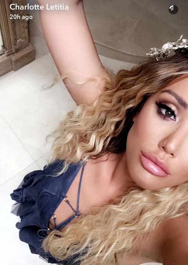 Former Geordie Shore star Charlotte Crosby shows off her mermaid hair on Snapchat, 1 September 2016
