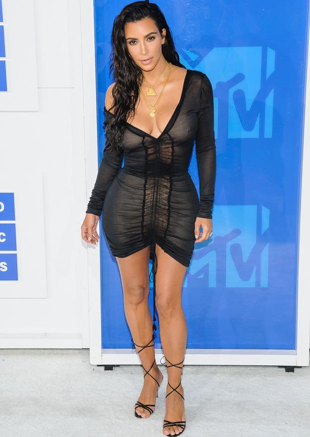 Kim Kardashian attends the VMAs in New York, 28 August 2016