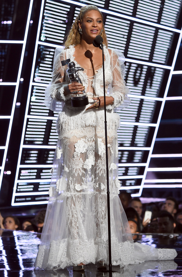 Beyonce accepts the awrad for Video of the Year onstage during the 2016 MTV Video Music Awards at Madison Square Garden on August 28, 2016 in New York City.
