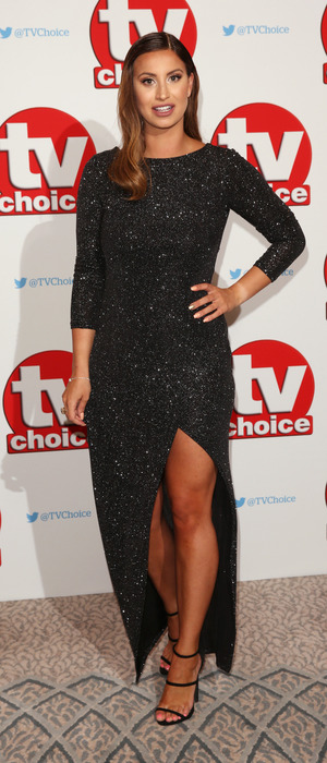 Former TOWIE star Ferne McCann at the TV Choice Awards, The Dorchester Hotel, London, 5 September
