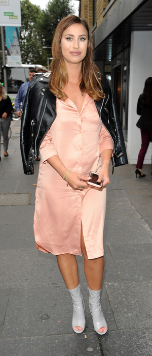 Former TOWIE star Ferne McCann attends the Walkers Crists Sarnie Club event in London, 6 September 2016