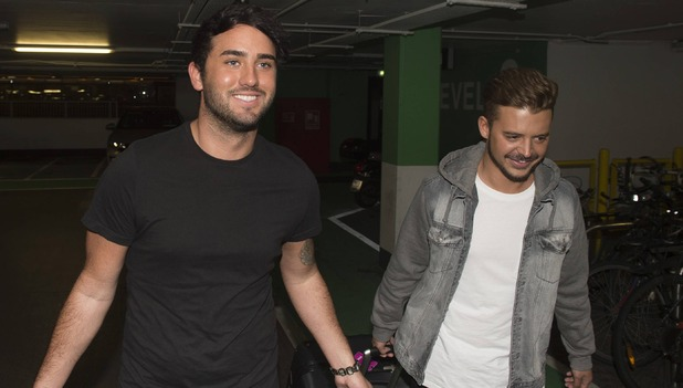 Hughie Maughan and Ryan Ruckledge at Dublin airport, 10th September 2016