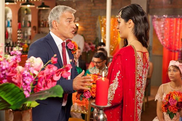 Hollyoaks, Mac and Neeta's wedding, Tue 13 Sep
