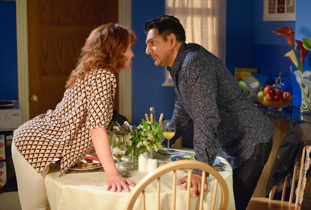 EastEnders, Carmel and Masood kiss, Mon 12 Sep