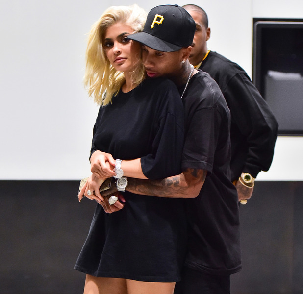 Keeping Up With The Kardashians star Kylie Jenner shows off her new blonde hair in New York, 6 September 2016