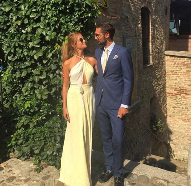 Millie Mackintosh and Hugo Taylor attend pal's wedding together