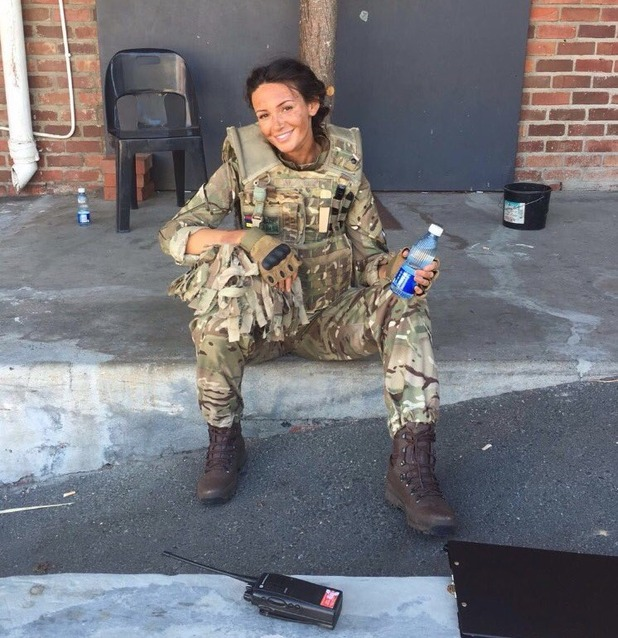 Michelle Keegan behind the scenes on Our Girl - 6 Sep 2016