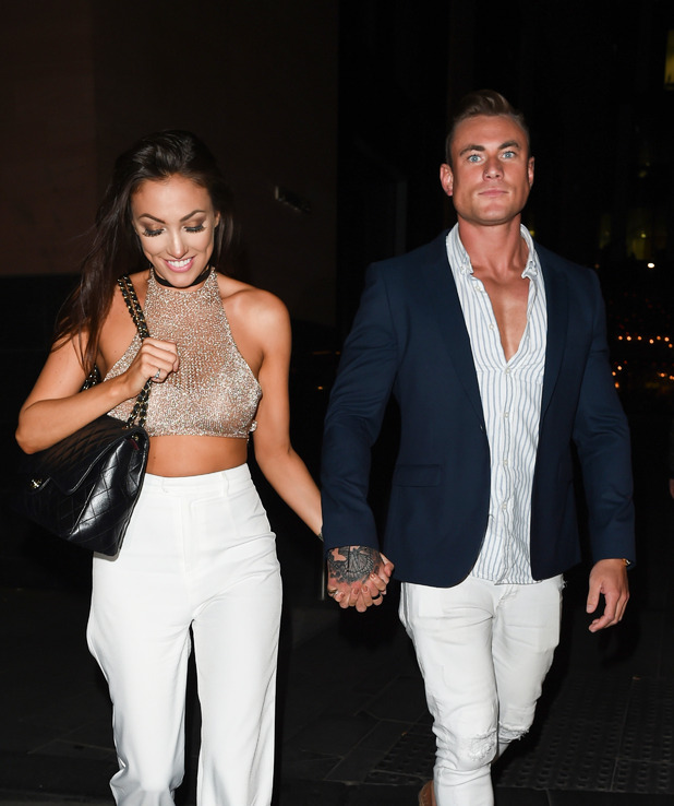 Love Island couple Tom Powell and Sophie Gradon at Neighbourhood in Manchester, 22nd June 2016