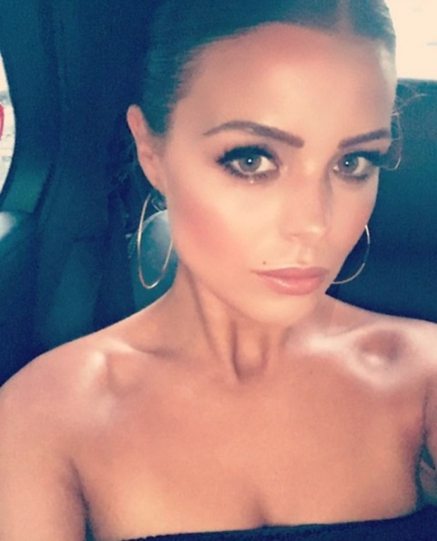 Chloe Lewis selfie on the way to the TV Choice Awards at The Dorchester Hotel on September 5, 2016 in London, England.