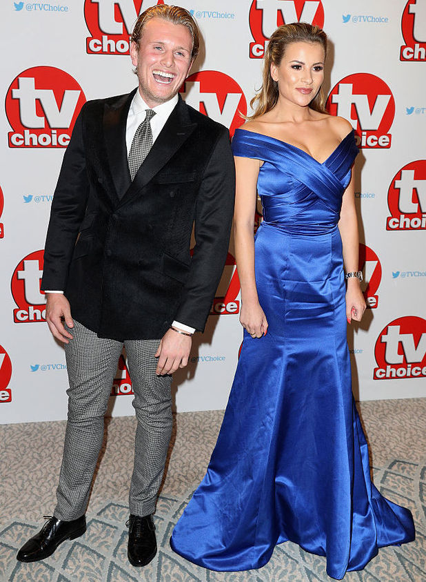 Tommy Mallet and Georgia Kousoulou arrive for the TV Choice Awards at The Dorchester on September 5, 2016 in London, England. (Photo by Chris Jackson/Getty Images)