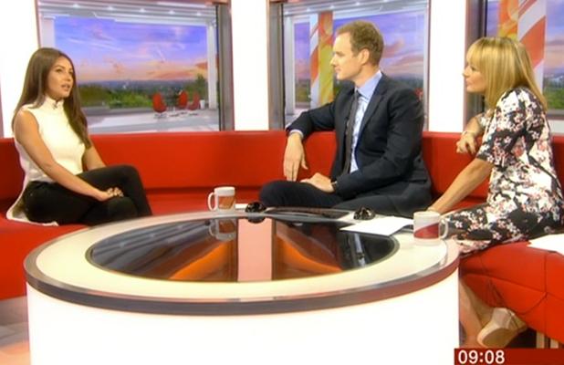 Michelle Keegan shows off brown hair on BBC Breakfast 5 Sept 2016