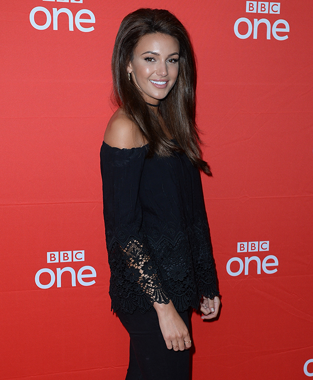 Michelle Keegan arrives at home Manchester for preview screening of BBC Drama 'Our Girl' 2016