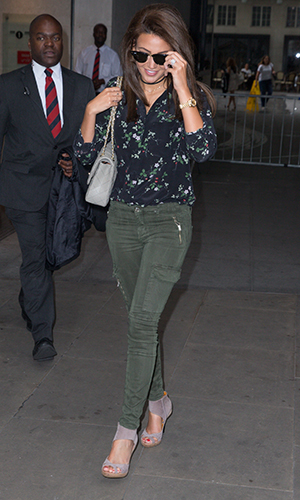 Michelle Keegan and Mark Wright arrive at Radio 1 7 Sept 2016
