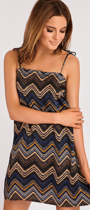 Made In Chelsea's Binky Felstead launches transeasonal fashion collection with In The Style, Zig Zag printed dress £29.99 12 September 2016