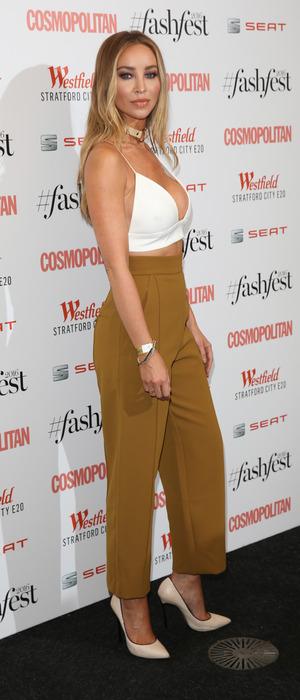 Former TOWIE star Lauren Pope at the Cosmopolitan Fash Fest in London, 15 September 2016