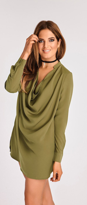Made In Chelsea's Binky Felstead launches transeasonal fashion collection with In The Style, khaki dress £34.99 12 September 2016