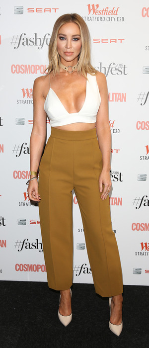 Former The Only Way Is Essex star Lauren Pope attends the Cosmopolitan Fash Fest in London, 15 September 2016