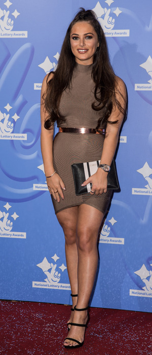TOWIE's Courtney Green attends the National Lottery Awards in London, 9 September 2016