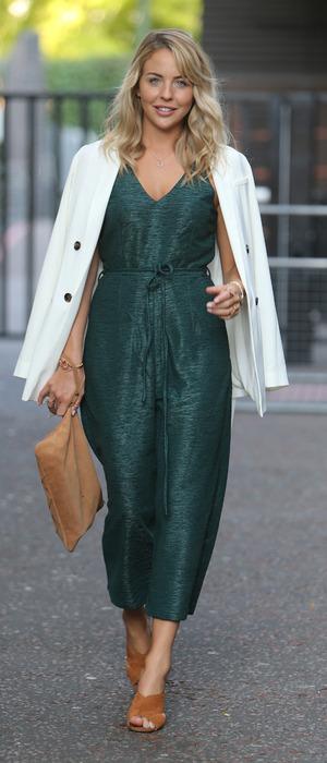 TOWIE's Lydia Bright wears AX Paris on Lorraine 14 September 2016