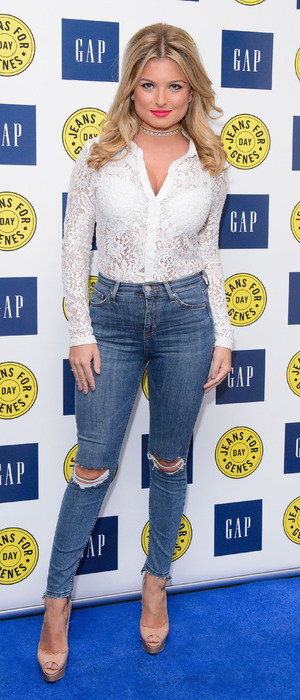 Love Island's Zara Holland at the GAP Jeans for Genes party in London, 13 September 2016