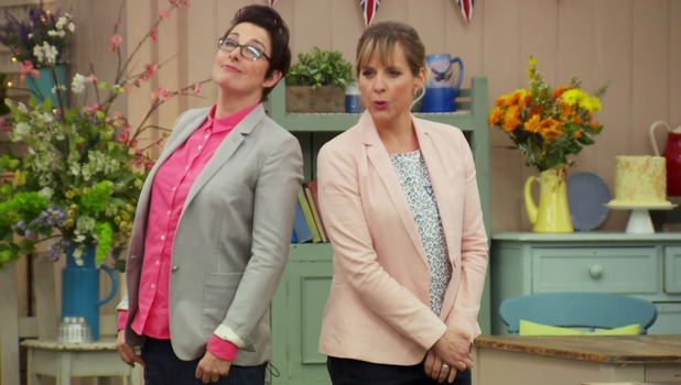 Great British Bake Off: Mel Giedroyc and Sue Perkins 7 September
